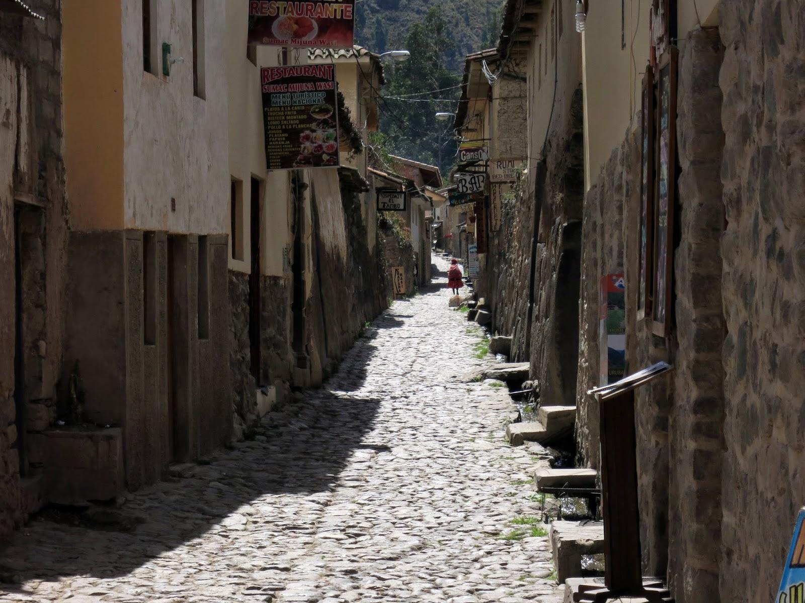 Calles del casco histórico de Ollantaytambo