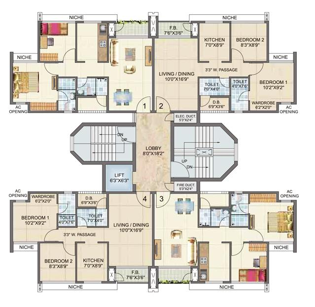 Awesome Home Design With Plans 1 Bhk Multistorey