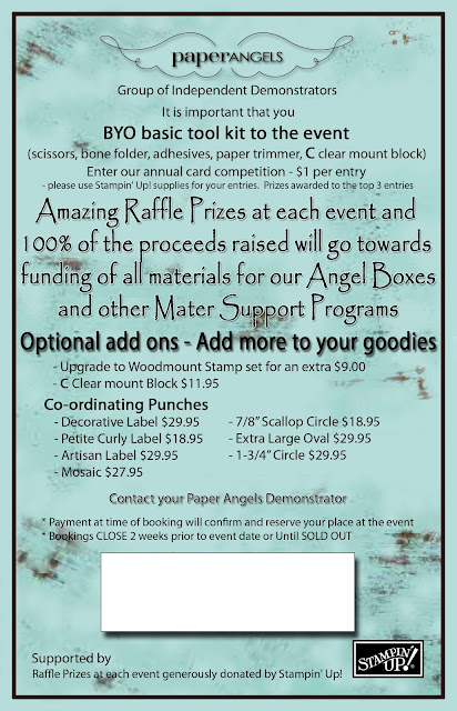 Advertising For Paper Angels Carity Event 2013