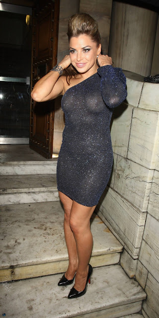 LOUISE GLOVER GOES SHEER DURING HER WILD NIGHT AT LONDON CLUB