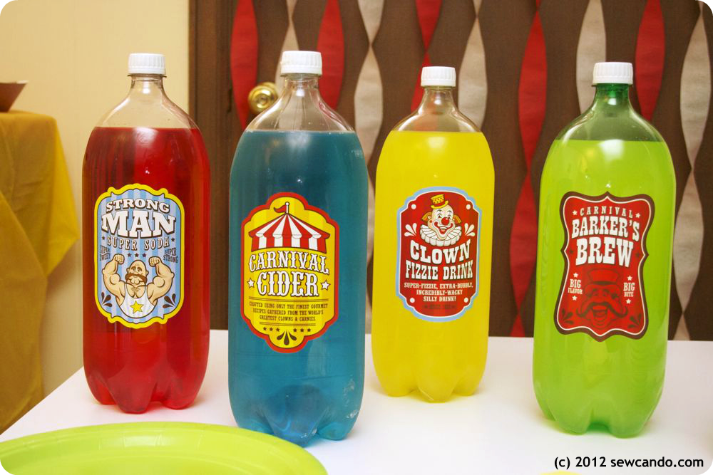 Sew can do the easy on mom carnival party - Cheap circus decorations ...