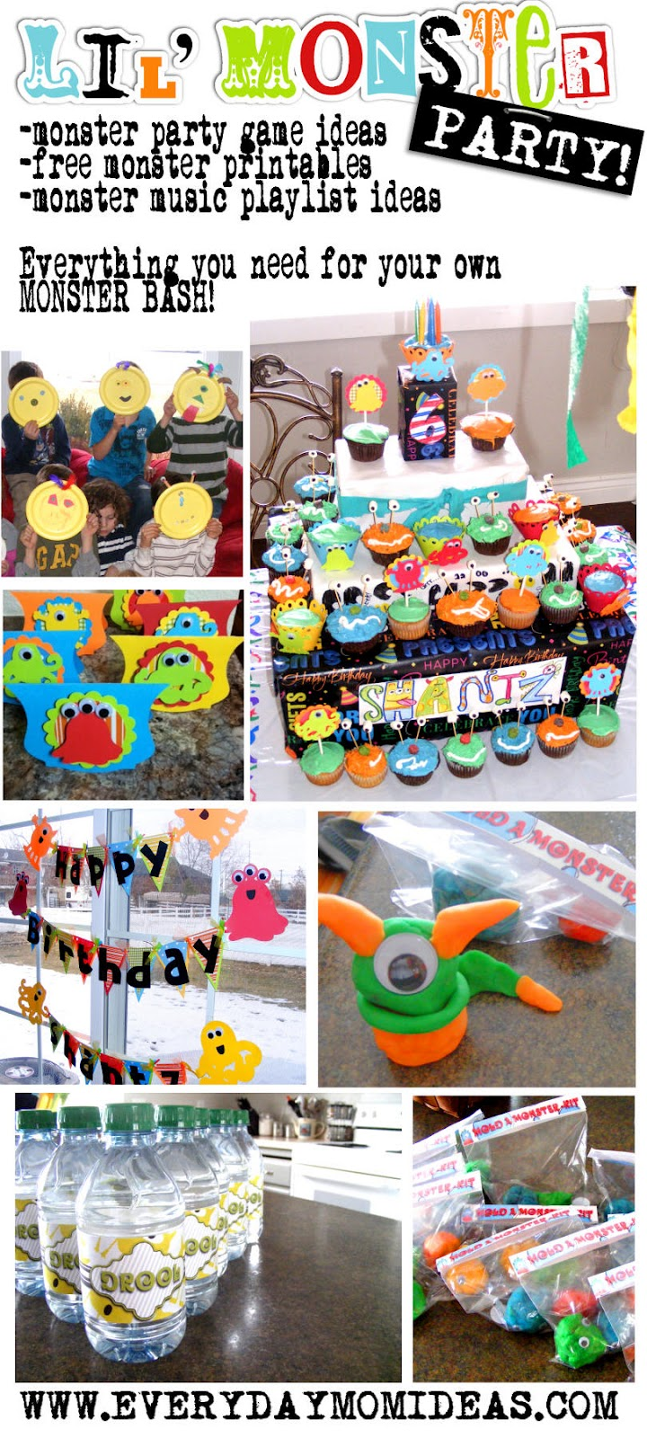 Little Monster Bash Birthday Party Ideas Everyday Mom Ideas