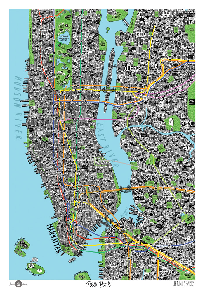 New York City Chinatown Bookstore NYC Visitor Maps – New York City Tourist Map