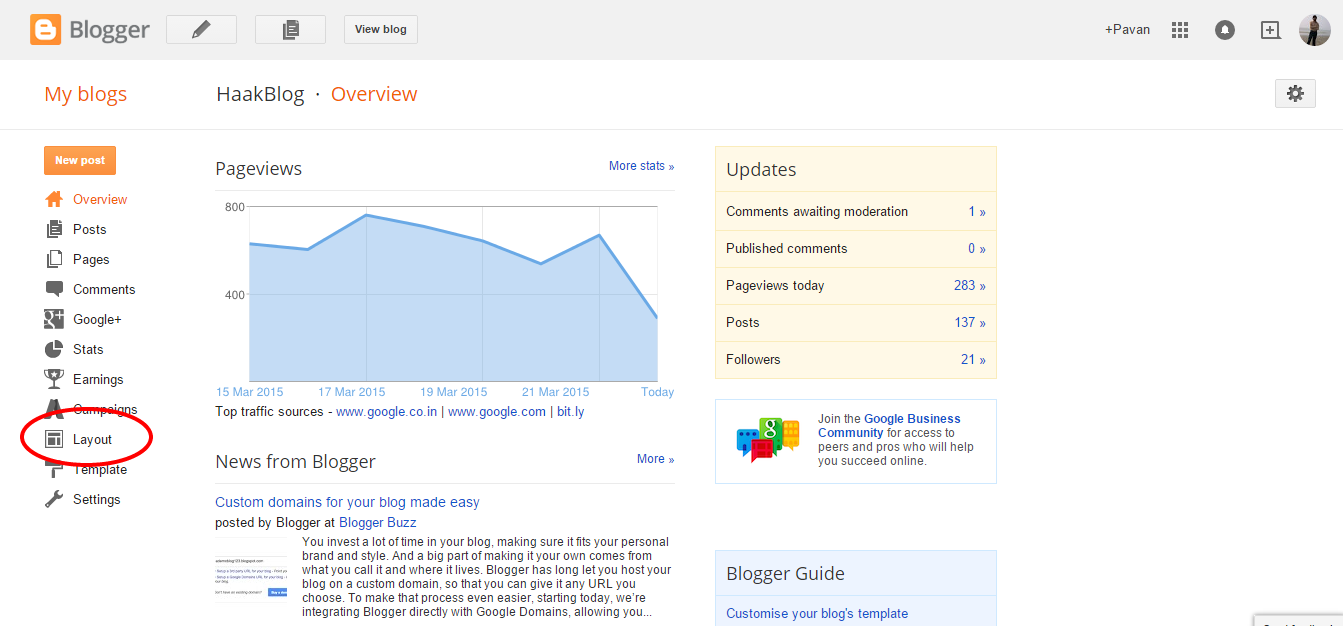 Random posts widget for Blogger