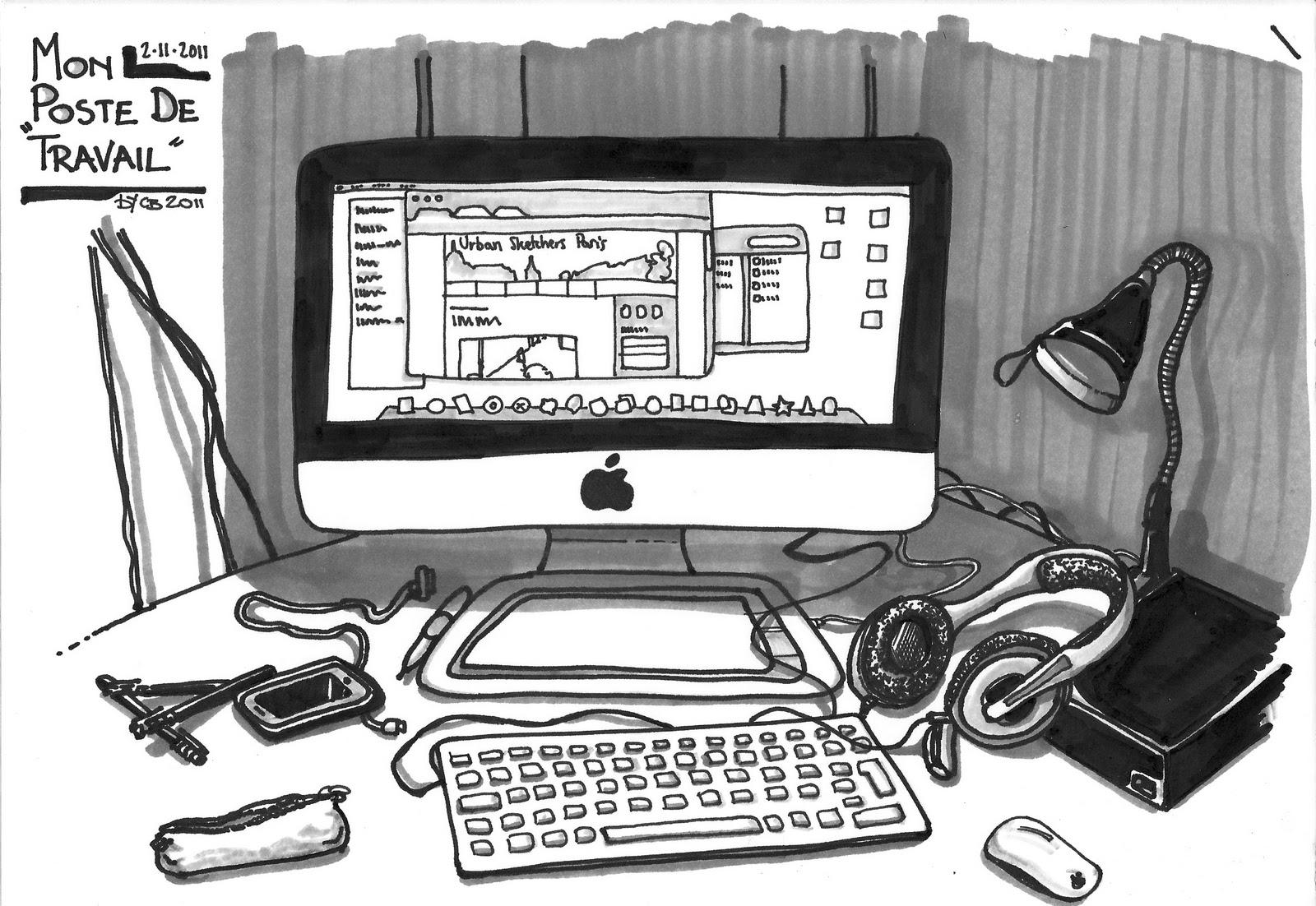 urban sketchers paris le th me de la semaine pc et laptops. Black Bedroom Furniture Sets. Home Design Ideas