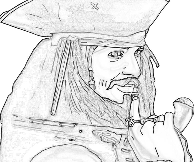 Printable Jack Sparrow Funny Coloring Pages 5