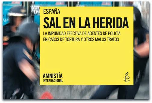 Sal en la herida. Amnistía Internacional