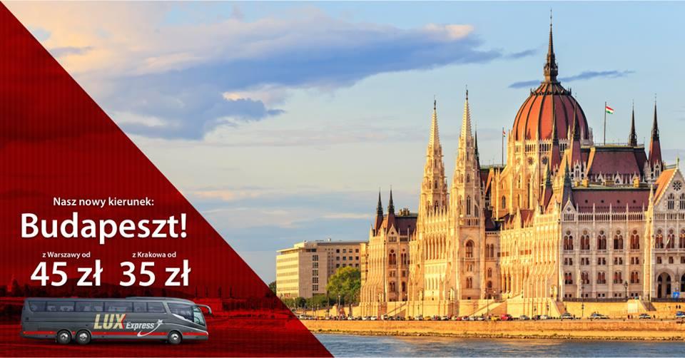 Warszawa Krakow Budapeszt autokarem Lux Express