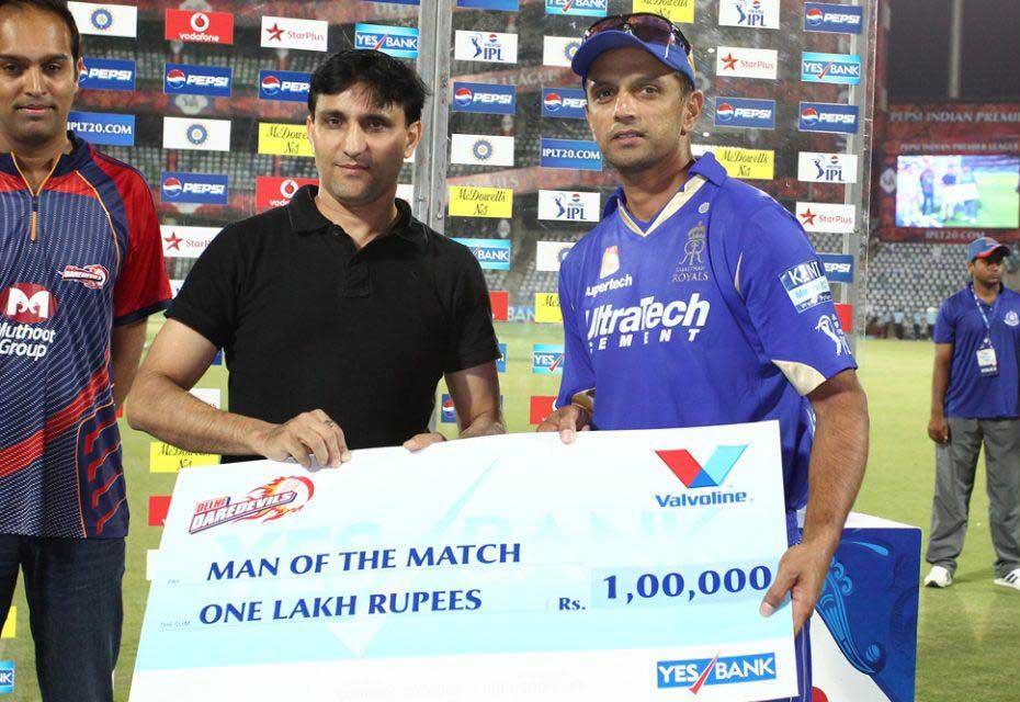 Rahul-Dravid-Man-of-the-Match-DD-vs-RR-IPL-2013