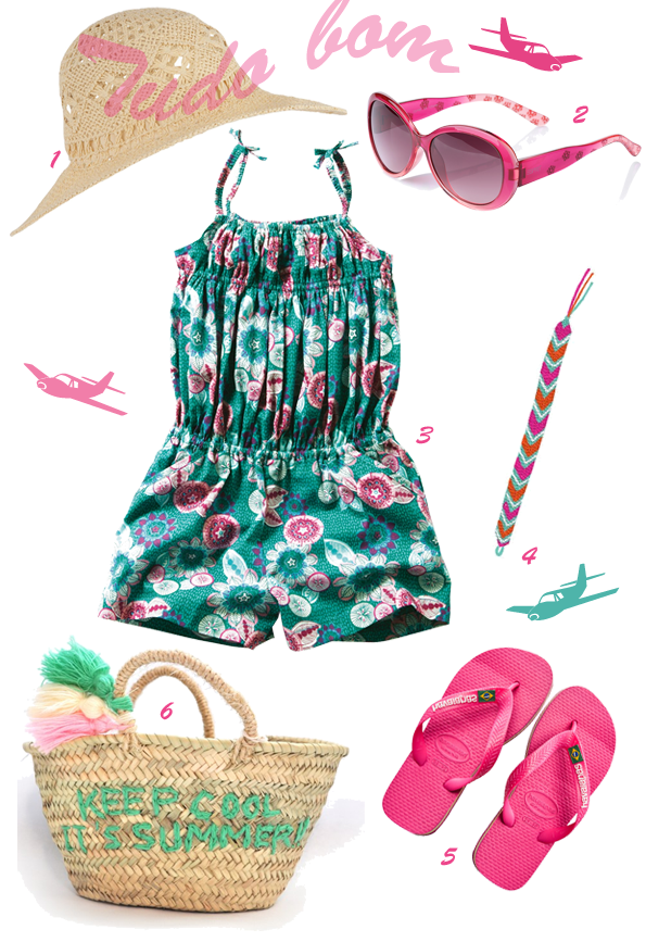 Le look Copacabana (Monoprix Kids - Vertbaudet - Tattly - Havaianas - Rose in april)