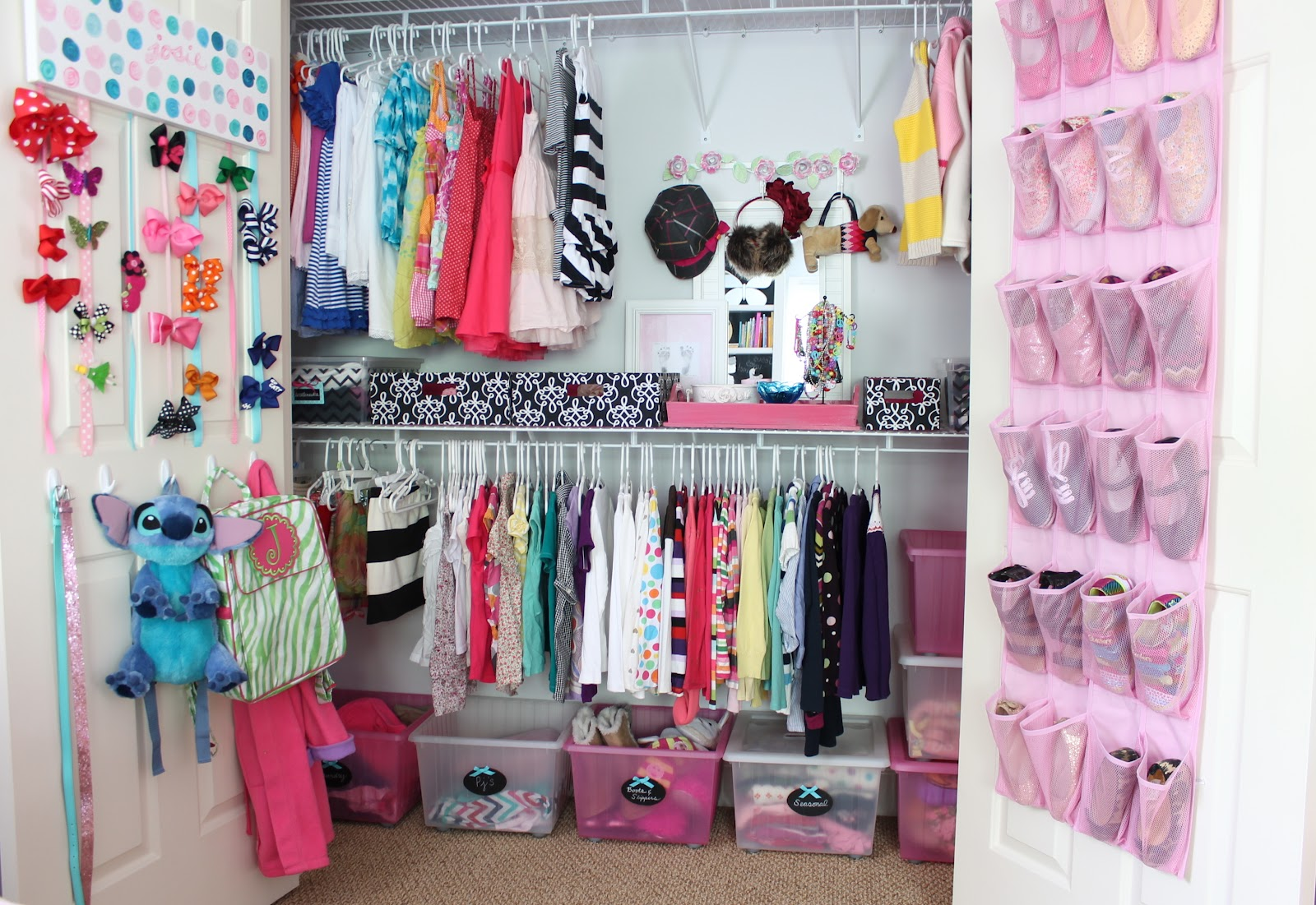 For Their Weekly Clothes In Each Of Their Closets In The Girl S Closet