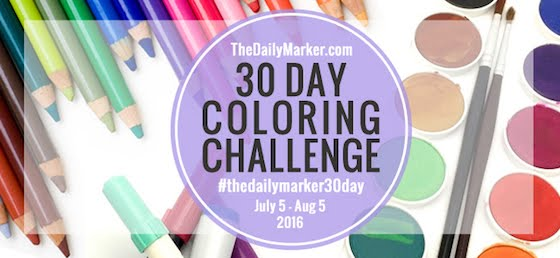 Daily Marker 30 Day colouring challenge