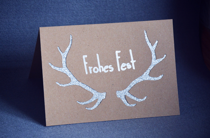 Rotkehlchen Diy Antler Cut Out Christmas Cards