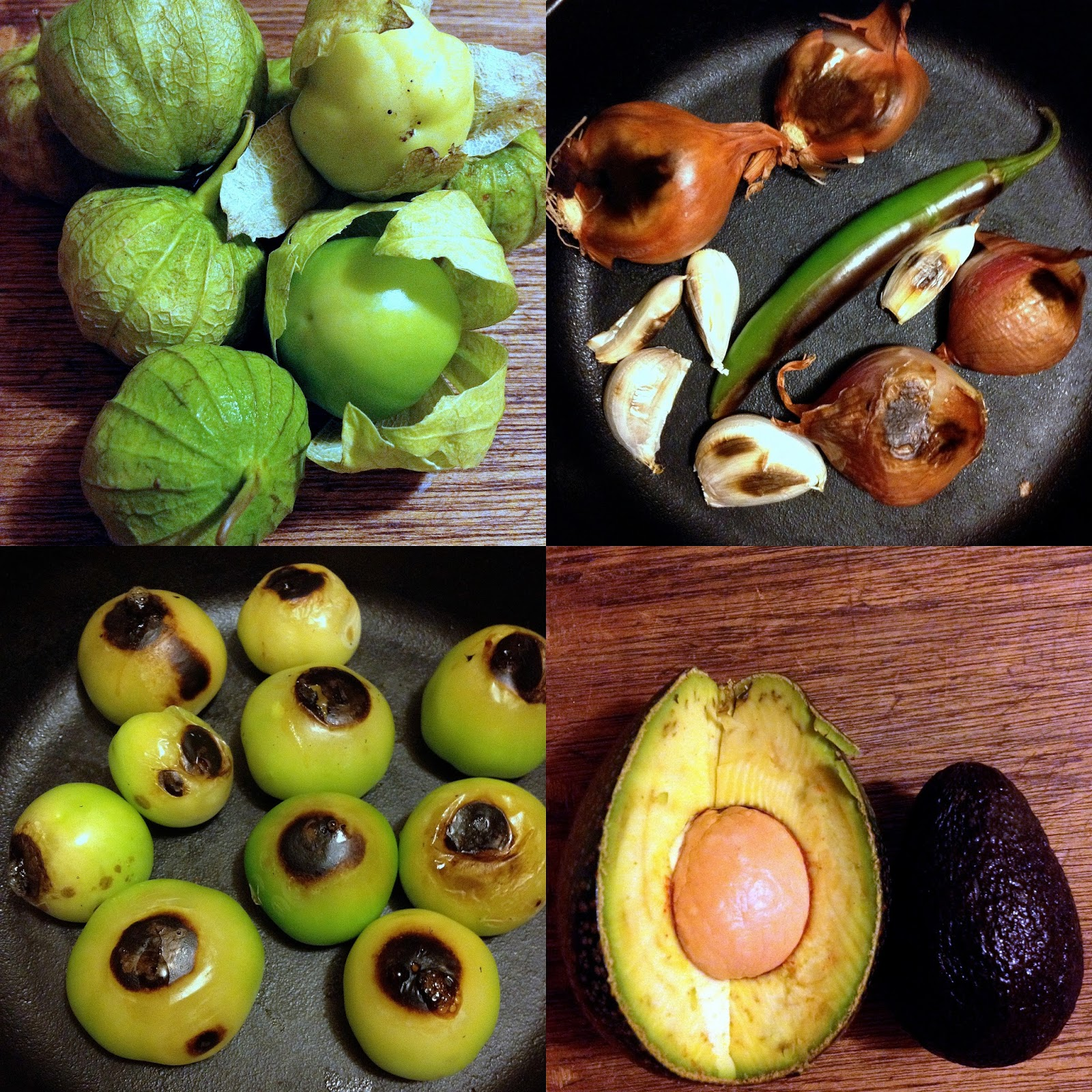 Keep the Peas: ROASTED TOMATILLO AND AVOCADO SALSA/SAUCE