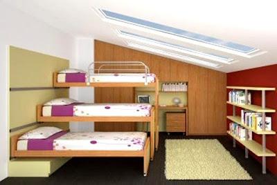 dormitorio para tres hermanitas