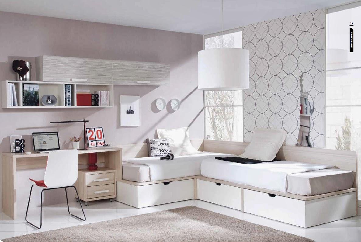 Solu es para quartos pequenos mobili rio para jovens e - Habitaciones para tres ...