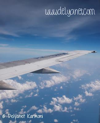 pemandangan dari pesawat