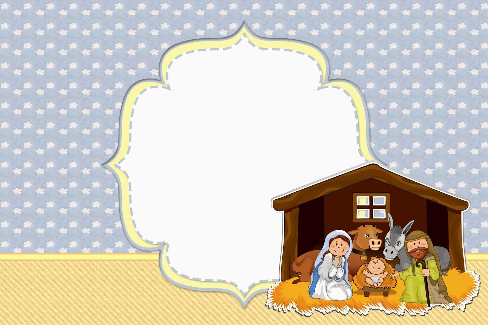 Sweet Nativity Scene: Free Party Printables.