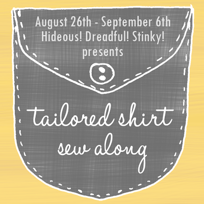 tailored shirt sew along
