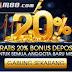 Bonus Deposit 20% Untuk Member Baru M88
