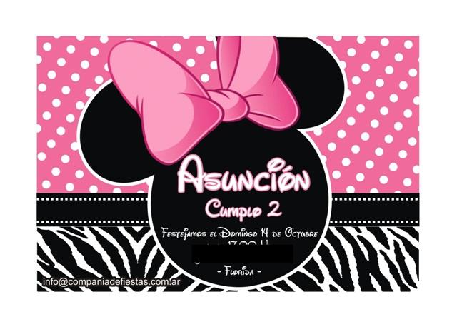 Cumpleaños Asunción con Minnie Zebra Print!