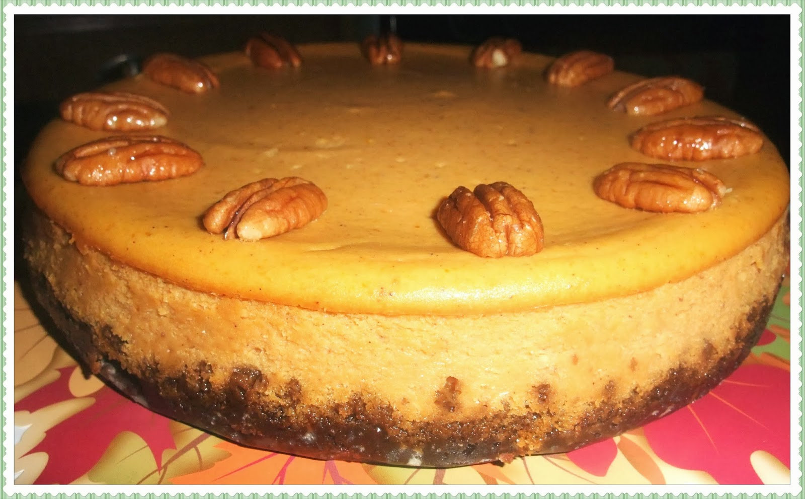 Rosie's Country Baking: Pumpkin Cheesecake with Gingersnap Crust