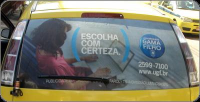 Universidade Gama Filho taxidoor publicidade em taxi