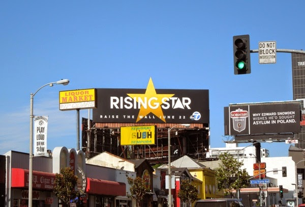 Rising Star special extension billboard Sunset Strip