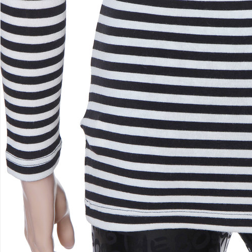 Long Sleeved V-Neck Stripe Shirt