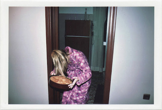 dirty photos - fumus - a photo of girl in pink holding pie