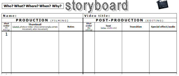 Exchange In Training Storyboard Template