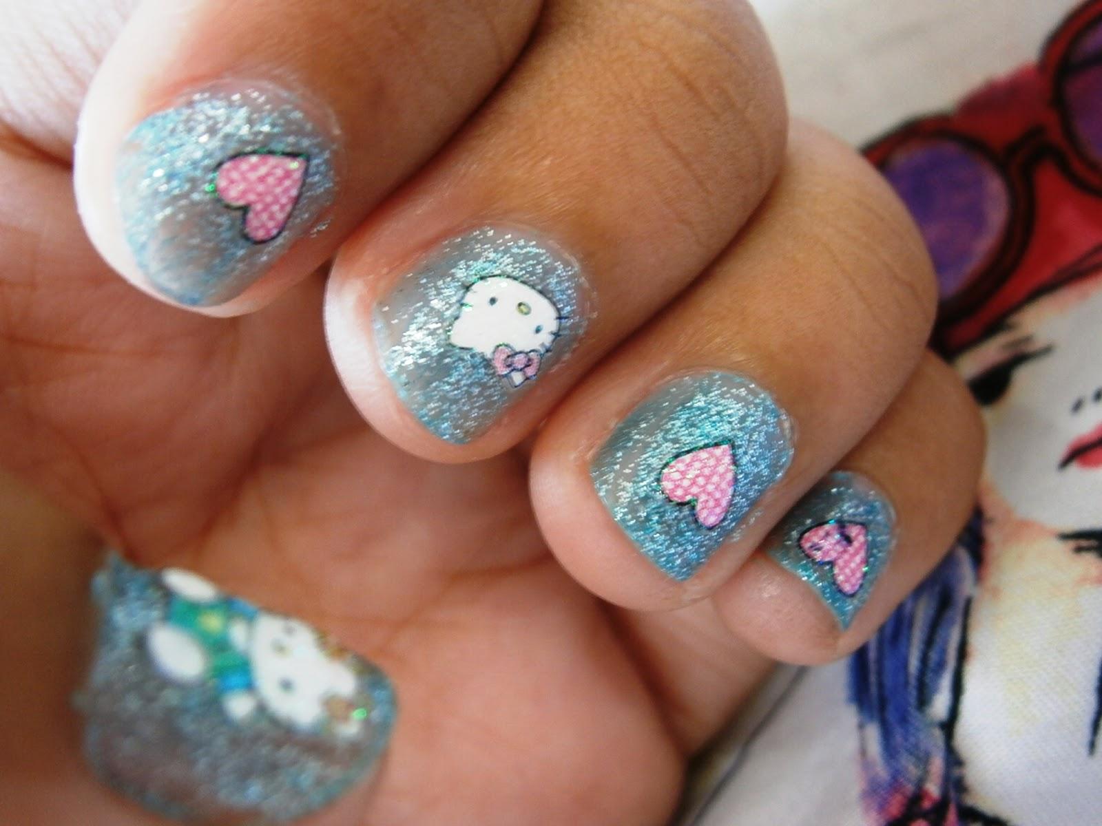 Kawaii Hello Kitty Nail Art! - My Verbal Diarrhea