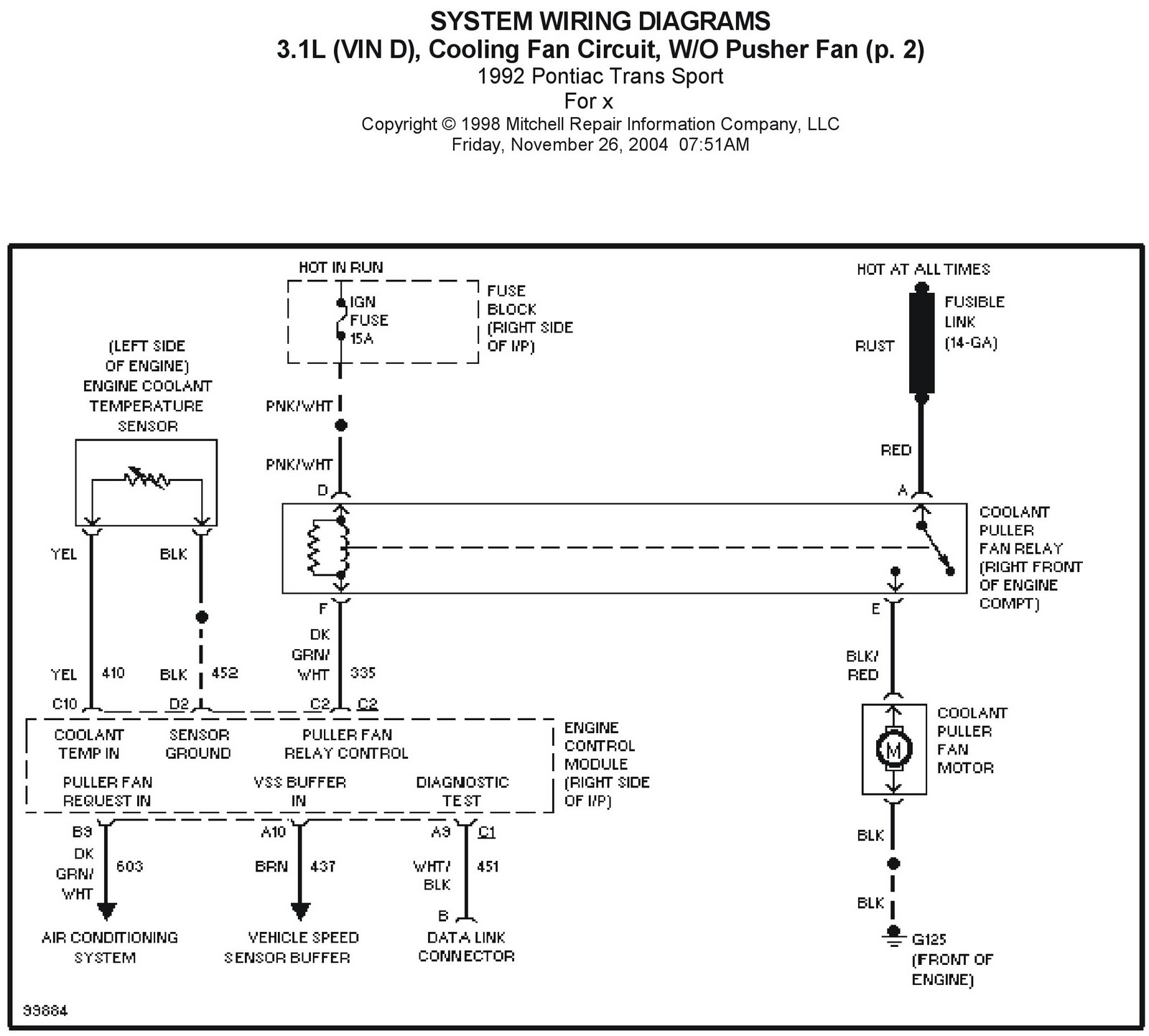 1992 Pontiac Trans Sport cooling fan circuit 1 wiring diagrams galleries 1992 pontiac trans sport radio wiring diagram at soozxer.org