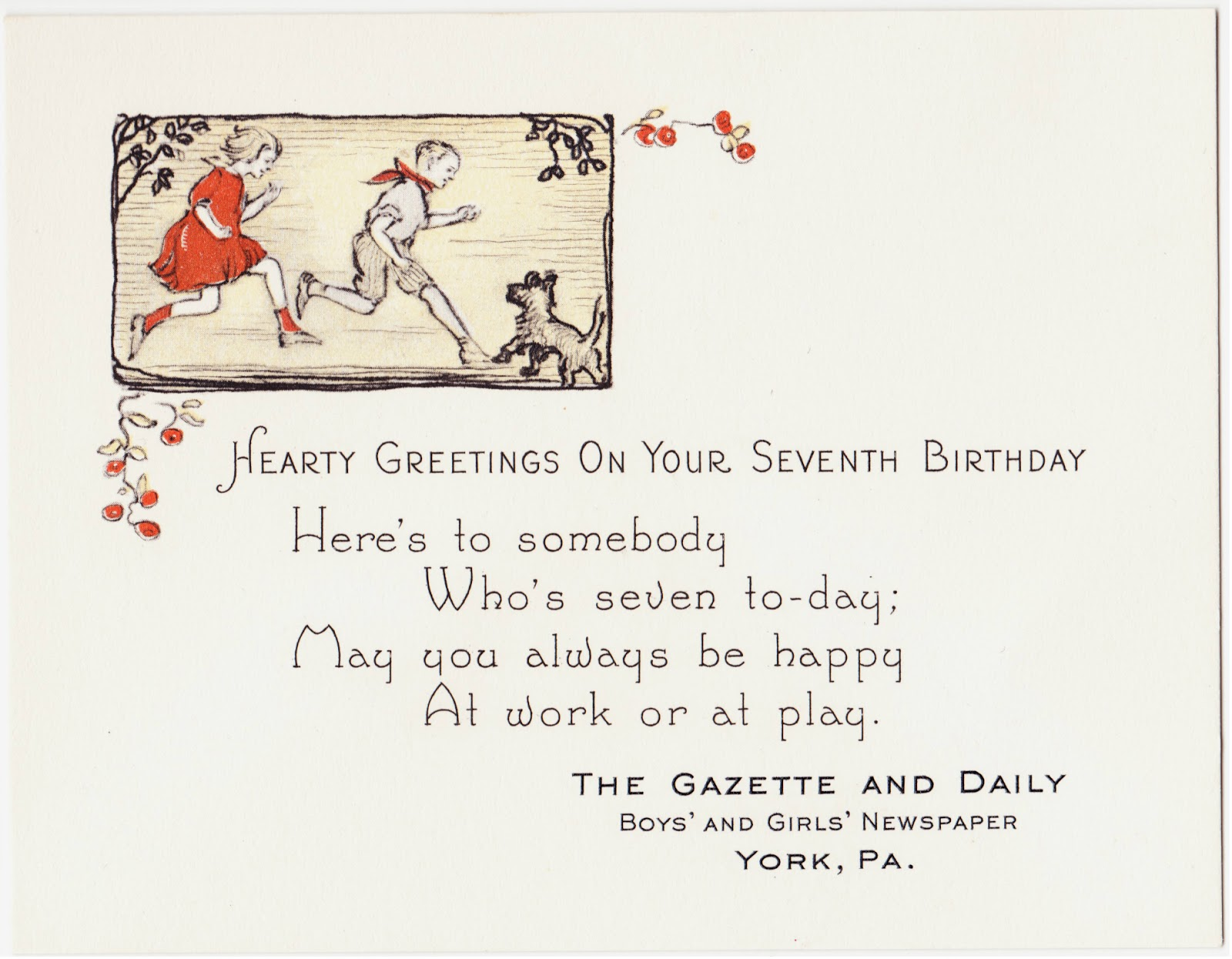 Papergreat Old Birthday Greetings Card From The York Gazette And