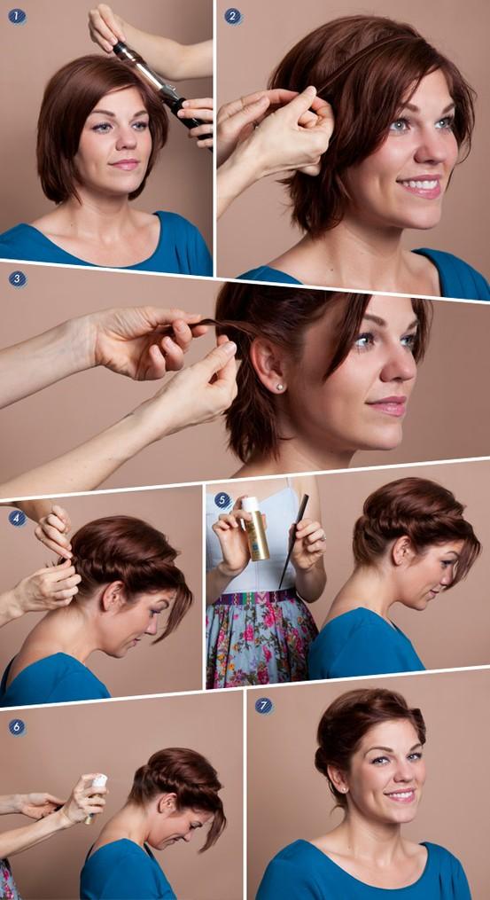 tutorial twist rambut pendek tutorial cepol kepang rambut pendek