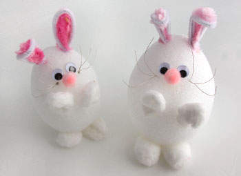 Cotton Ball Easter Bunny Craft Make A Cute Using Foam And Balls Very Simple Fun