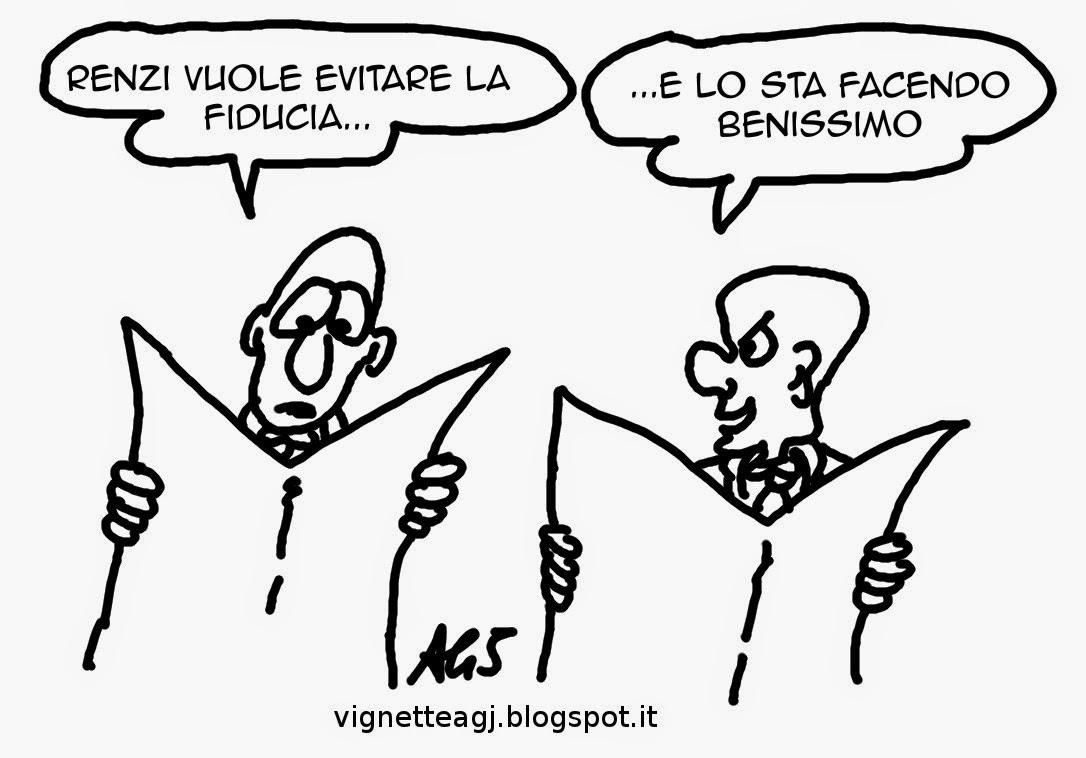 italicum, renzi, fiducia, satira, vignetta