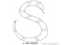 Snake Alphabet Coloring Pages