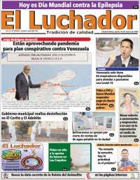 26/03/2020   PRIMERA PAGINA DIARIO DE VENEZUELA