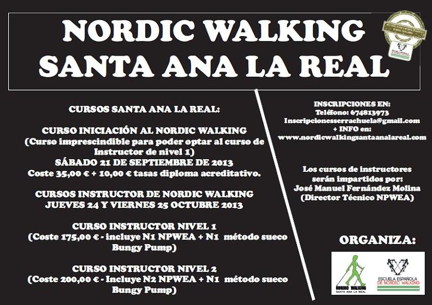 FORMACIÓN NORDIC WALKING SANTA ANA LA REAL