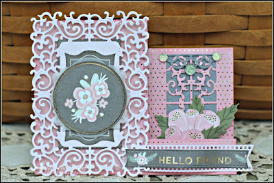 Hello Friend Card featuring the Happy Day Stack by DCWV designed by Rhonda Van Ginkel