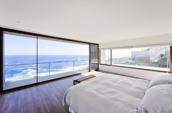 Casas minimalistas y modernas casa frente al mar en chile for Casa moderna frente al mar