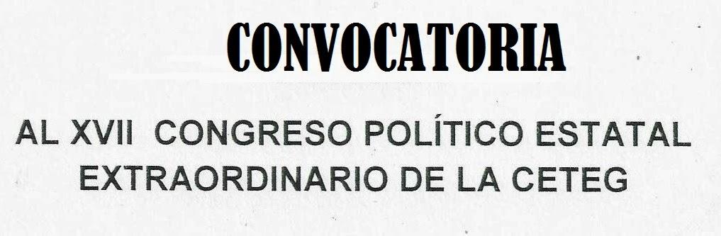 CONVOCATORIA XVII CONGRESO ESTATAL EXTRAORDINARIO