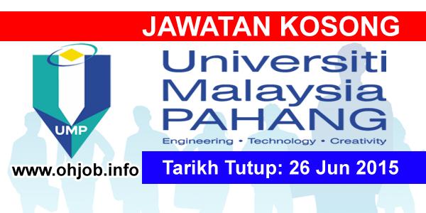 Jawatan Kerja Kosong Universiti Malaysia Pahang (UMP) logo www.ohjob.info jun 2015