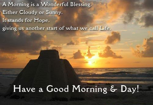 Wonderful good morning