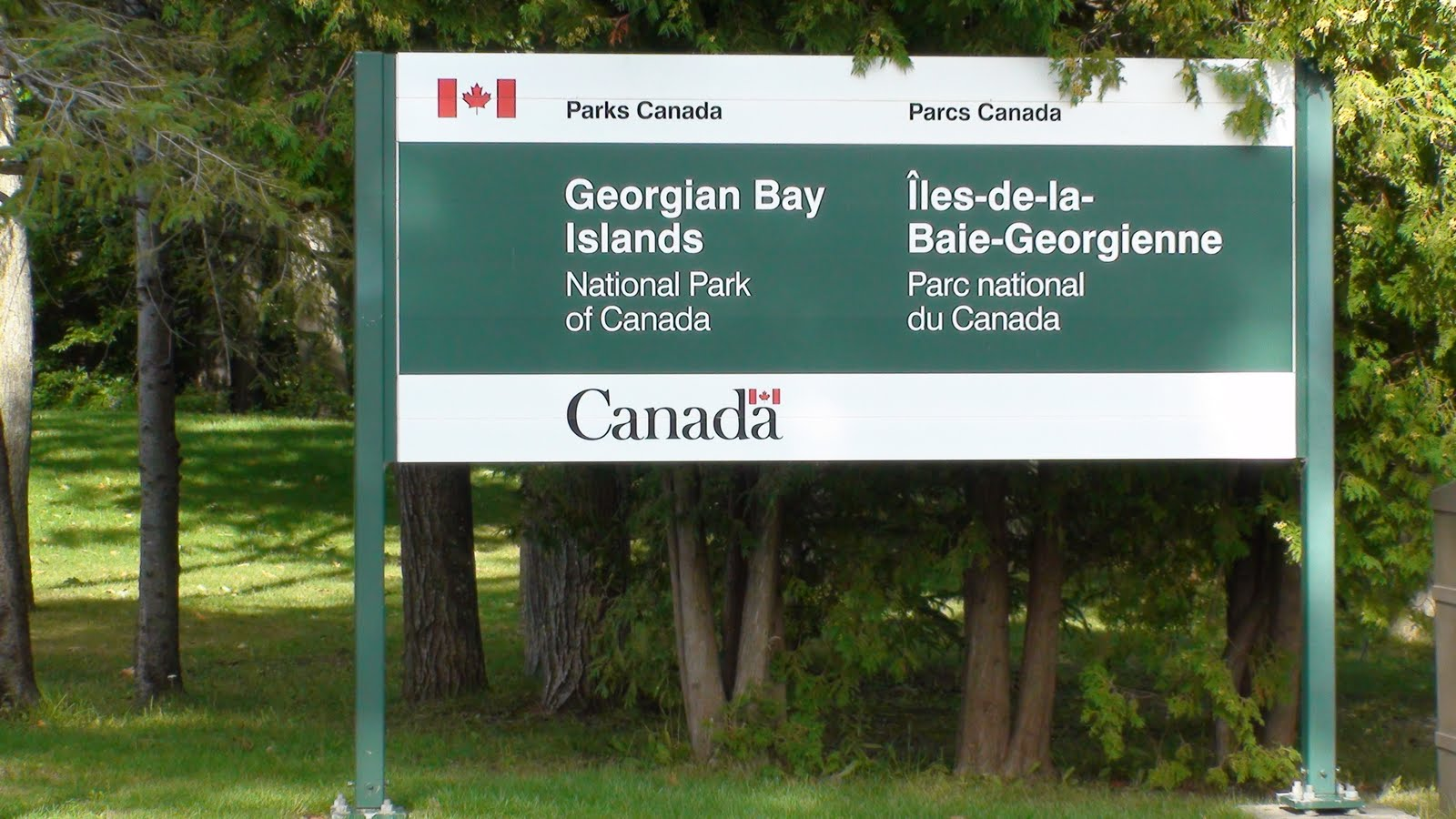 Sign of Georgian Bay Island National Park of Canada