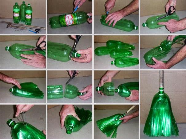 Mengolah Botol Bekas - Sapu plastik