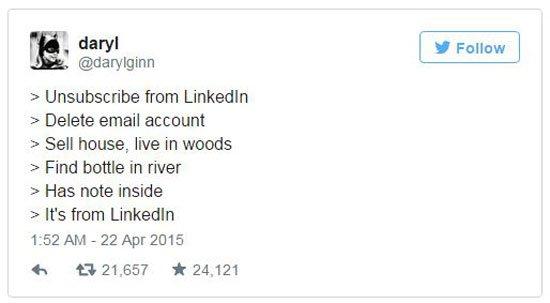 LinkedIn تعلن توقفها عن إرسال بريد إلكترونى إلي مشتركيها