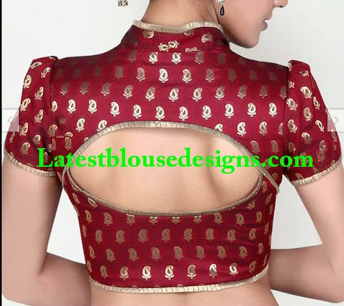 collar neck blouse deisgns 2014