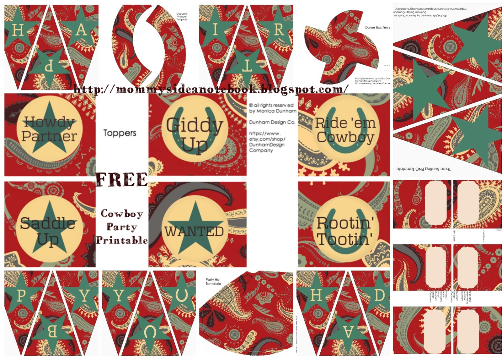 Printable Birthday Decorations Free ~ Dunham design company: free western party printable sets! {cowboy